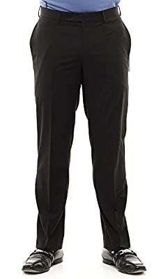 Calvin Klein Black Extreme Slim Fit Dress Pants For Men Classic Flat Front Style Trousers