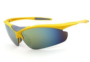 A-SZCXTOP UV-Schutz Sport Sonnenbrille Semi-Gläser mit Stofftasche zum Angeln, Fahren, Laufen, Reisen