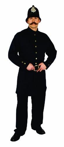 Alexanders Costumes Men's Keystone Kop, Blue One Size -