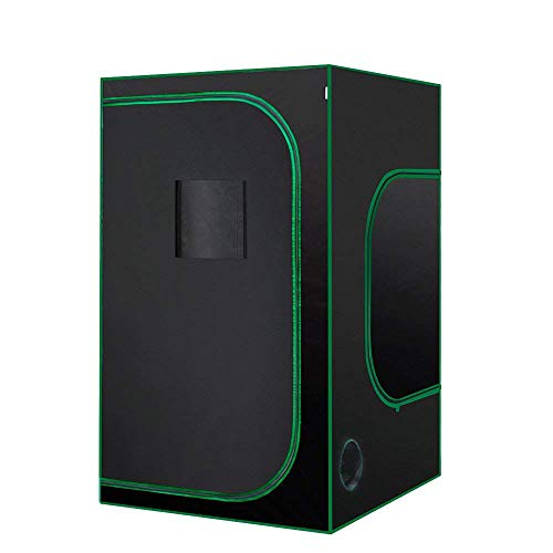 $99.99 indoor grow tent diy MELONFARM 48″X48″X80″4'x4'Mylar Waterproof Hydroponic Grow Tent with Removable Floor Tray and Observation Window, Tool Bag for Indoor Seedling Plant Growing 2019