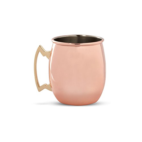 (Cambridge Silversmiths 4 Piece Moscow Mule Mug Set, 20 oz, Copper)