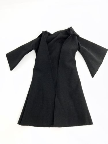 Black Jedi Fabric Cloak Robe for 6
