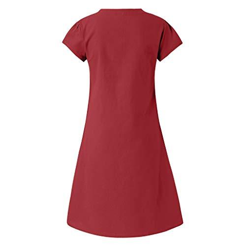 Fruits vêtements Femmes Plus nbsp;robe La Bellelove Col Couleur V Des En Robe Pour Taille Et Coton Occasionnelles Duvin Dames Été Élégantes Imprimés Style Lin 18FqdwFa