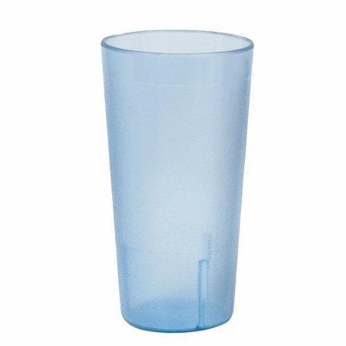 20 Ounce Restaurant Tumbler Beverage Cup, Stackable Cups, Break Resistant Commmerical Plastic, Set of Six - Blue