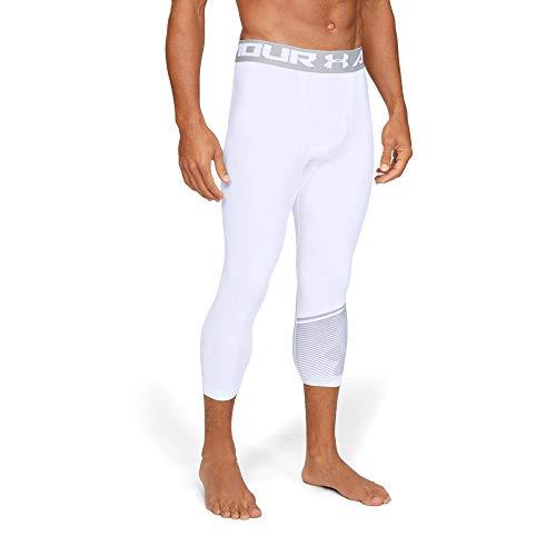 (Under Armour Heatgear Armour 3/4 Leggings Novelty, White//Mod Gray, X-Large)