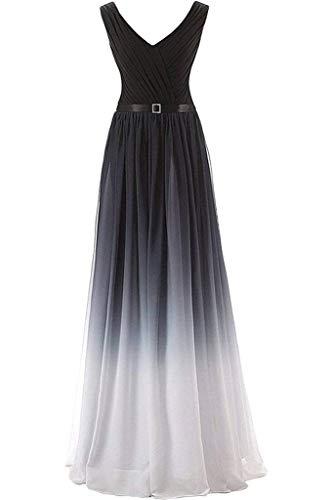 Charmeuse V-neck Floor - Women's Colorful Evening Dress, Deep V-Neck Long Floor Length Formal Party Gown-Gray-2