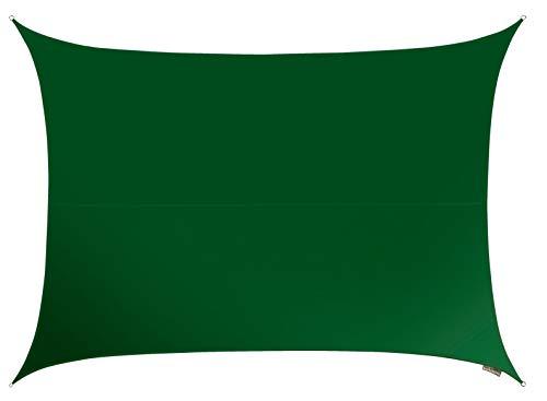 Kookaburra 13ft 1 x 9ft 10 Rectangular Green Woven Sun Shade Sail Waterproof