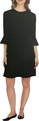 ABS COLLECTION Womens Dress Ruffle-Sleeve Shift Dress