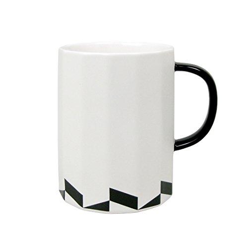 Ziiyan Simple Geometric Designs Ceramic Milk Coffee Mug 16 o
