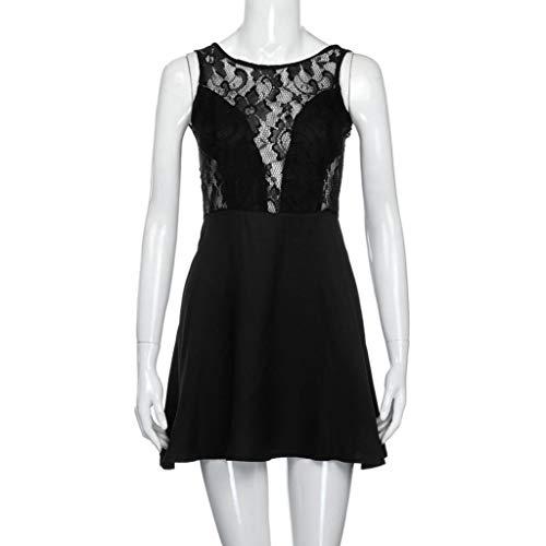 Dress Lace Prom Summer Backless Cocktail Short Falda Black Womens Mini NREALY Casual CcXw0vHq