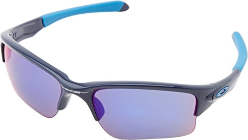 Oakley Quarter Jacket Non-Polarized Iridium Rectangular Sunglasses,Polished Navy,61 mm (Youth - Running Glasses Oakley