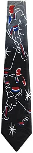 Mens Ice Hockey Theme Necktie