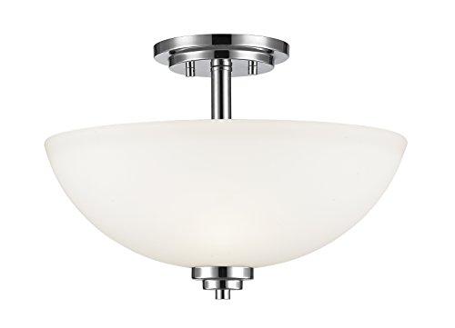Z-Lite 443SF-CH 3 Light Semi Flush Mount, Chrome