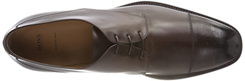 Boss Stanford_derb_ctls, Scarpe Stringate Derby Uomo Marrone (Dark Brown 209)