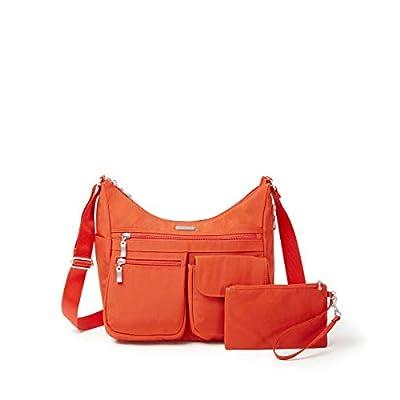 Baggallini Everywhere Travel Crossbody Bag,Vibrant Poppy