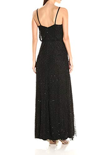 Robe Lng Noir Femme Blouson Dress Papell Adrianna xaqIzz