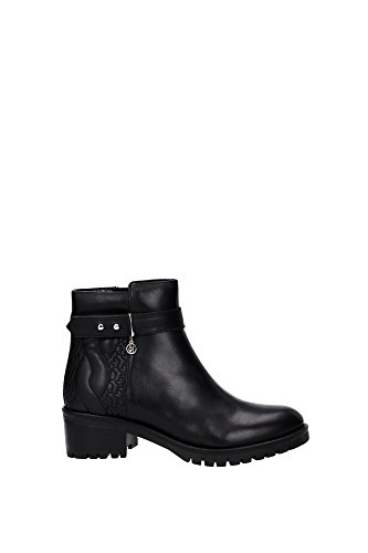 9250426A40800020 Armani Jeans Botines Mujer Piel Negro Negro