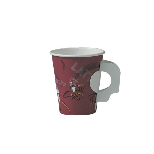 Solo 376SH-0041 Single-Sided Poly Paper Hot Cup with Hand...