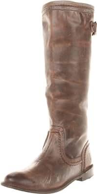 FRYE Women's Paige Trapunto Knee-High Boot, Dark Brown, 7 M US