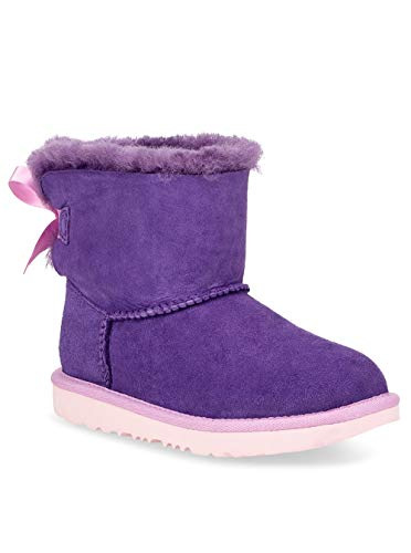 UGG Girls' T Mini Bailey Bow II Fashion Boot, Violet Bloom, 9 M US Toddler -