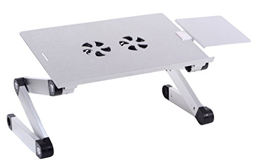 Accuon Adjustable Vented Laptop Table Computer Desk, Light A