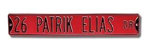 "Steel Street Sign: ""26 PATRIK ELIAS DR"""