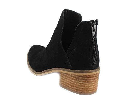 Suede Western Steve Madden Lancaster Women's Boot Black YYvq6g