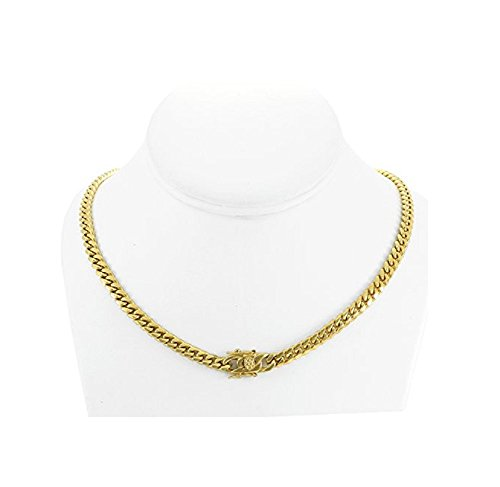 Solid 14k Yellow Gold Finish Stainless Steel 6mm - Stainless Steel Cuban Gold Chain