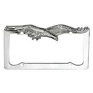 chrome flying eagle license plate frame
