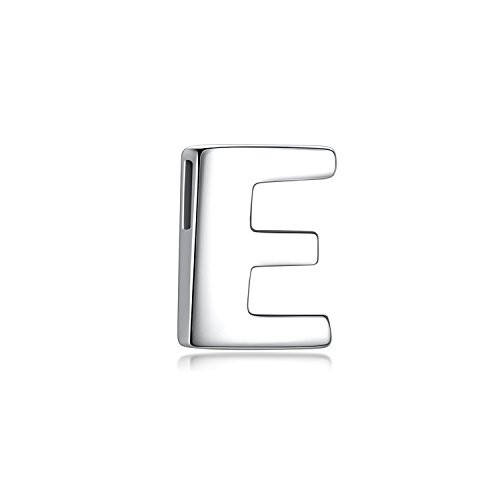Candyfancy A-Z Letters Personalized Alphabet 925 Sterling Silver Initial Pendant for Women Girls(Alphabet ()