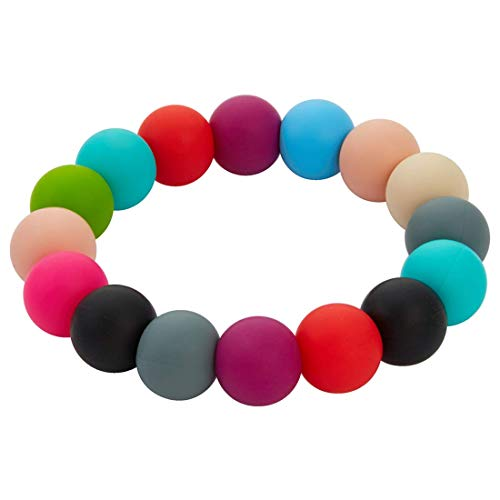Nearbyme Sensory Chewable Bracelet, Oral Motor Aids Teether Bracelet for Baby Kids Boys and Girls, Silicone Chewable Teething Ring for Autistic Chewers, ADHD, Baby Nursing or Special Needs