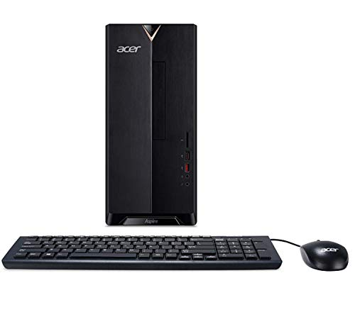2019 Acer TC-885 Desktop PC, Intel Core i5 8th gen 6-Core Processor up to 4GHz, 256GB SSD, 8GB DDR4, DVDRW, 802.11ac WiFi, HDMI, VGA, USB Type C, Windows 10, Includes Mouse and Keyboard