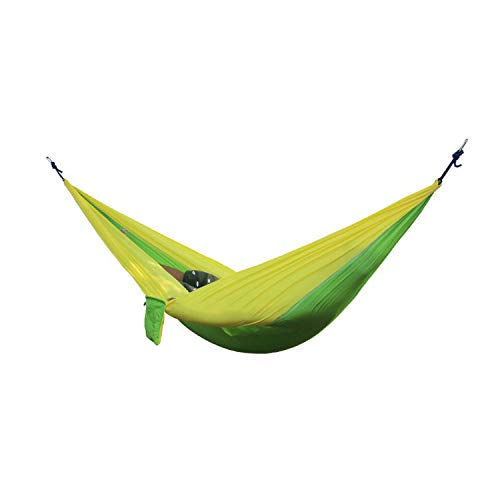 Fall In Love Portable Hammock Double Person Camping Survival Garden Hunting Leisure Travel Furniture Parachute Hammocks with Straps,Color as photo10 ()