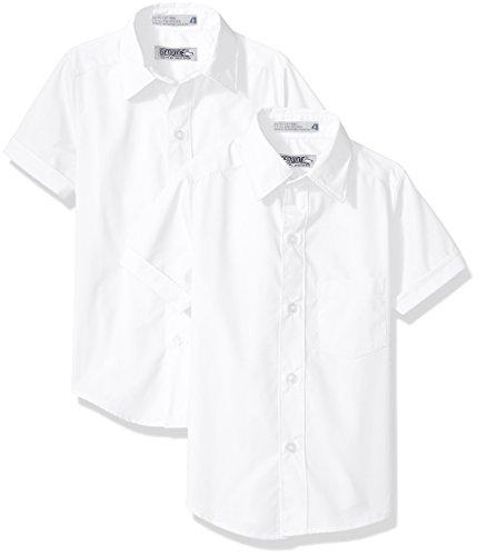 Boys Shirt Genuine (Genuine Big Boys' 2 Pack Woven Shirt (More Styles Avaialble), White Bbkh, 8)