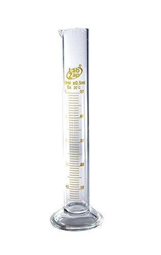 SEOH Graduated Cylinder Borosilicate Glass Round Base - Capacity (ml) 50 (Glass Graduated Cylinder)