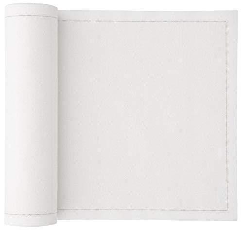 Linen Cocktail Napkins Cotton Cloth 50 Pieces (50, White Linen)