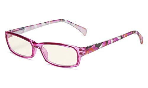 (Eyekepper Computer Glasses Digital Eye Strain Prevention Reading Glasses (Purple, 1.75))