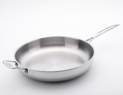 USA Pan Cookware 5-Ply Stainless Steel 13 Inch Gourmet Chef Skillet With Cover, Oven and Dishwasher Safe, Made in the USA by USA Pan (Image #1)