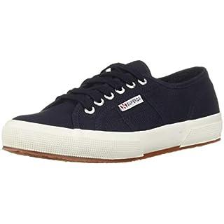 Superga unisex adult 2750 Cotu Classic Sneaker, Navy/White, 8.5 US