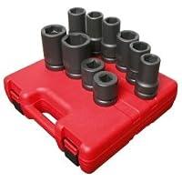 Sunex 5690A 10 Piece 1 Drive SAE / Metric Heavy Duty Wheel Impact Socket Set by Sunex