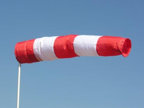Windsack rot-weiß 30 cm Durchmesser, 1,80 m lang