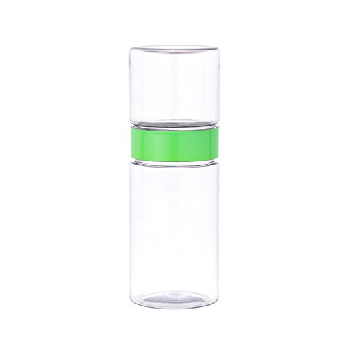 W&P DV-MAT-SHAKER Matcha Beverage Shaker, Multi-Functional Shaker and Serving Glass, Green, 16 Ounce ()