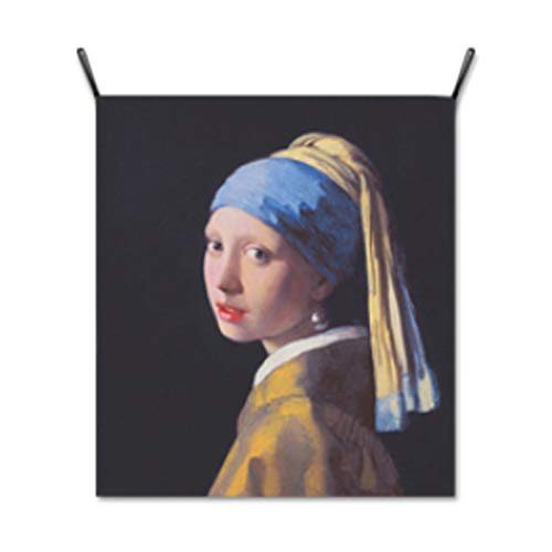 (AbundanceHomeDesign Girl with a Pearl Earing by Johannes Jan Vermeer/Hanging Poster/Tapestry Wall Hanging/Printed on Premium Fabric/Famous Painting Art Collection - Medium)