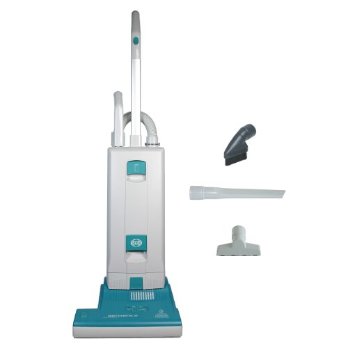 Sebo 9592AT Essential G2 Upright Vacuum with 15-Inch Power Head, Light Gray and Teal