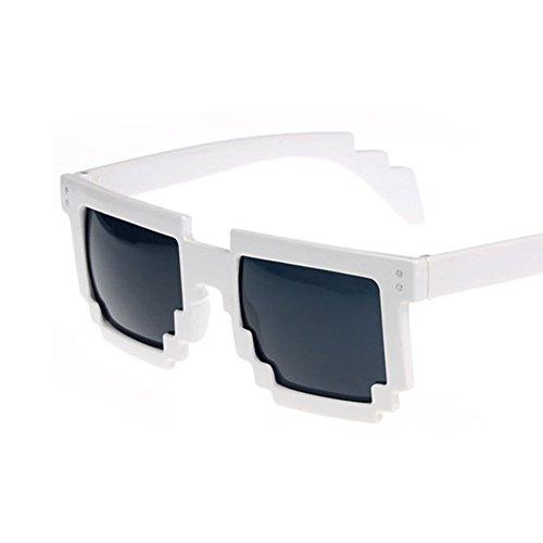 Moda Gafas gafafs de de Gafas Tipo Mosaico de 2018 Unisex Cuadrado Novedad de de de Novedad Moda Violeta de Gafas LanLan Sol 0wxFqw