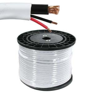 InstallerParts 500 ft RG59 w/2x18AWG Power White (White Power Ranger Morph Suit)