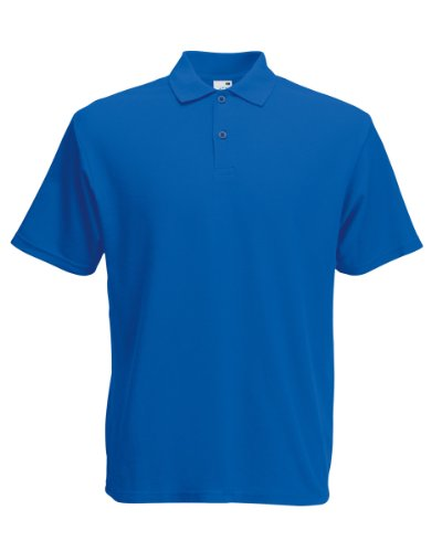 Herren Fruit Of The Loom Screen Stars Original Poloshirt Tshirt, 6 Farben-KOSTENLOSE LIEFERUNG XL,Royal