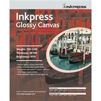 Inkpress Glossy Canvas, Waterproof, Stretchable, Bright White Glossy Inkjet Cloth, 20 mil, 350 gsm, 11x17