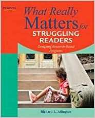 Book What Really Matters for Struggling Readers 3th (third) edition Text Only