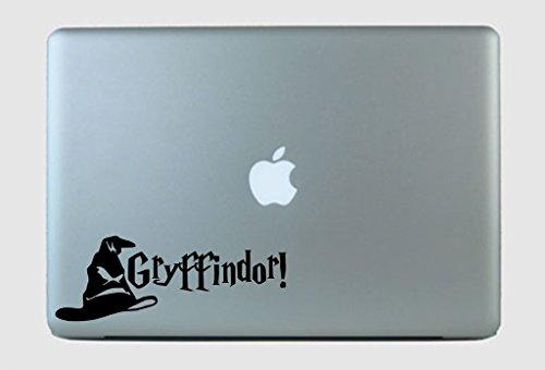 SimplyVinylized Harry Potter Inspired Gryffindor! Sorting Hat Vinyl Decal Sticker Black